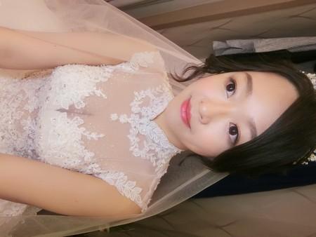 新秘rita|新娘秘書|bride-小迷|低馬尾|白紗造型|公主頭|乾燥花不凋花花飾|黑髮新娘
