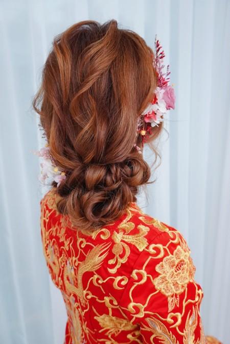 秀禾服浪漫髮型
