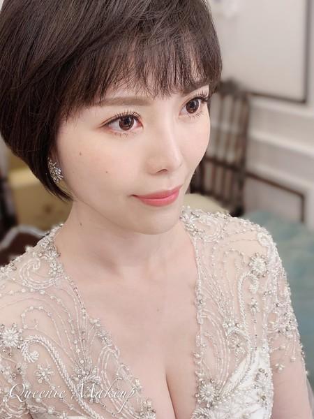 極精緻妝容 短髮新娘