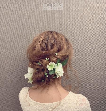 唯美新娘髮型