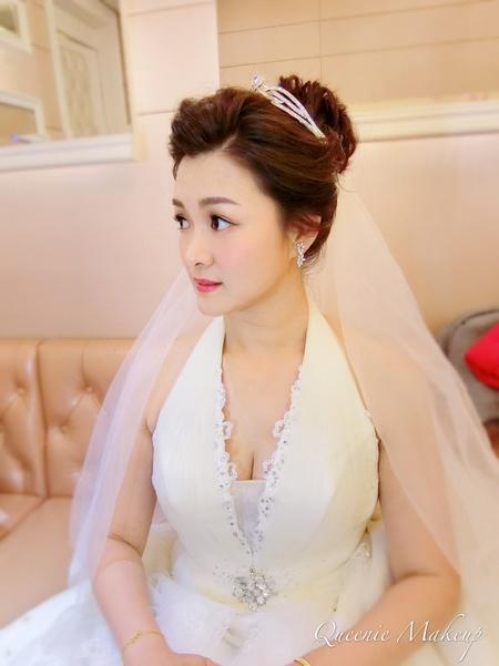 優雅白紗造型