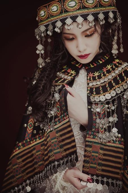 【琉璃圖騰】白紗精緻蕾絲/奔放線條式編髮/橘色果凍眼影