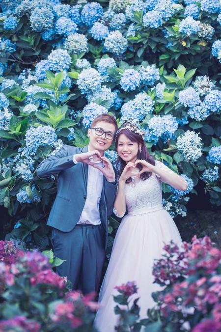 ❥ 家鄉&慧純 ❥ 幸福繡球花 滿滿的愛意