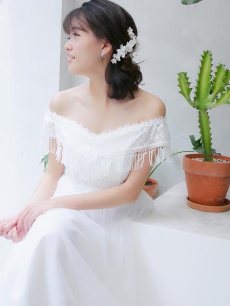 饅頭爸新秘團隊-娃娃 ❤ 婷 戶外儀式白紗造型