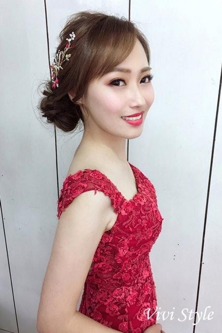 饅頭爸團隊-小樺Vivi-涵予婚紗造型