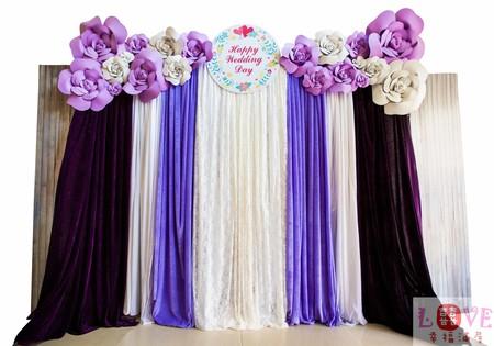 4號布幔套餐❤立體玫瑰紫白款-全省可寄送