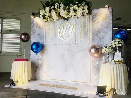 台東糖廠婚禮佈置白金大理石