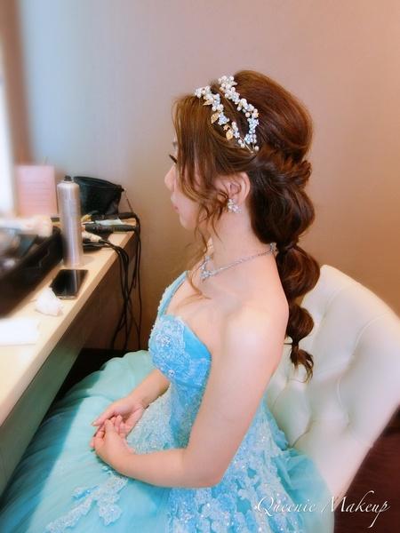 大眼娃娃馬卡龍粉藍甜美公主