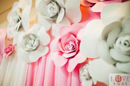 5號布幔套餐❤立體玫瑰 粉白款-全省可寄送