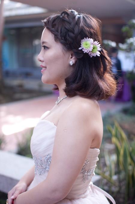 Bride~卉愉(短髮新娘) 無接髮,全真髮