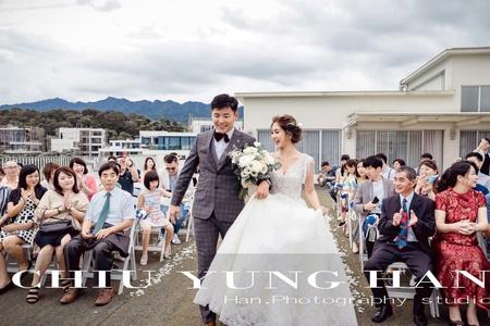 心之芳庭婚禮紀錄|來場偶像劇感 浪漫爆表的戶外婚禮吧!