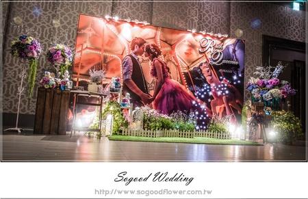 茂園和漢美食館婚禮佈置-E廳『浪漫星空風-藍紫白色』婚禮...1050305