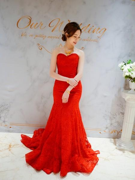 ❤紅禮服/訂婚造型❤