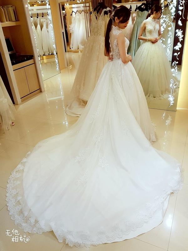 比堤婚紗 推薦新人:正峰&敏玫 禮服挑選 超美背白紗