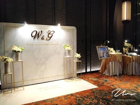 白金大理石|主題婚禮佈置