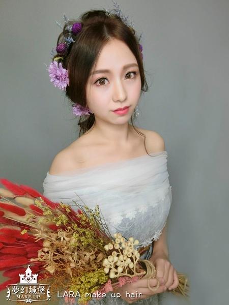 夢幻城堡彩妝造型-新秘LARA-新娘造型創作