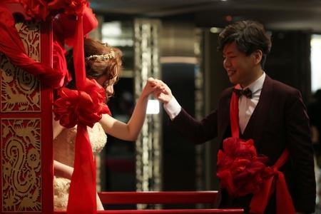 台北婚攝饅頭爸 | 晶華酒店3F | 結婚花轎進場