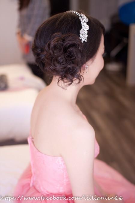 Bride~潔瑩  自然可愛的側邊挽髮
