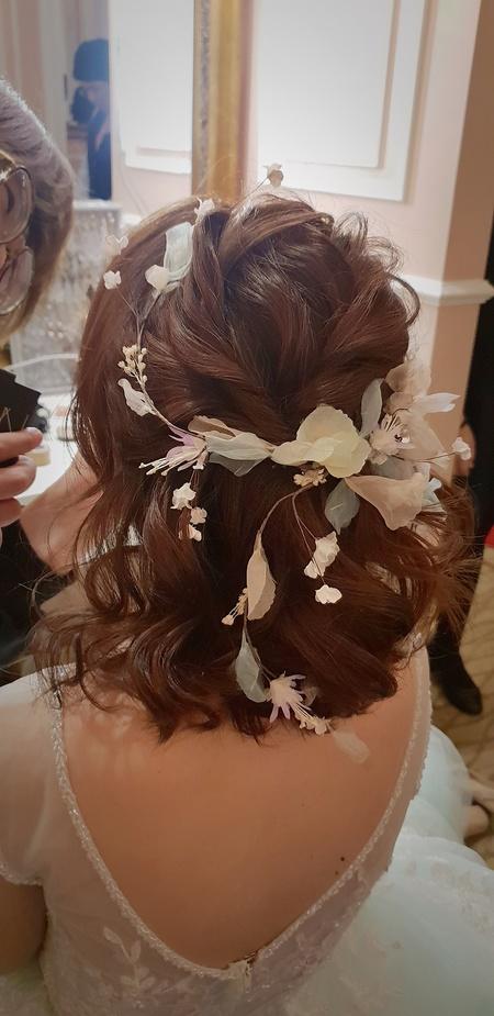 新秘rita|新娘秘書|bride-小嫚|短髮造型|浪漫|仙仙風|丸子頭