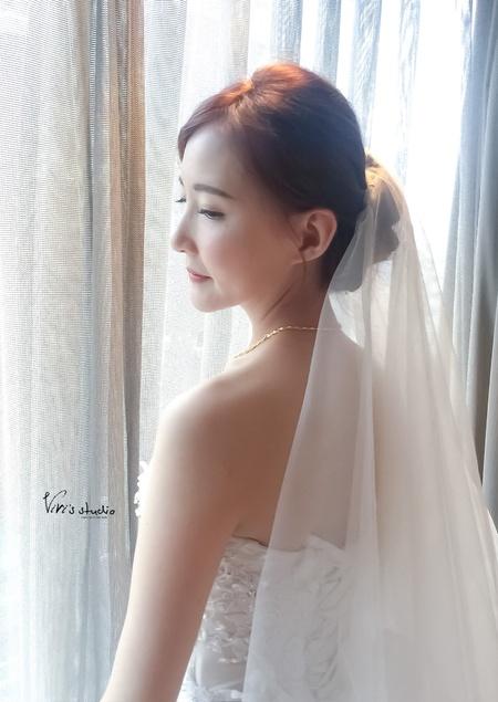 極簡風白紗造型~晶華酒店
