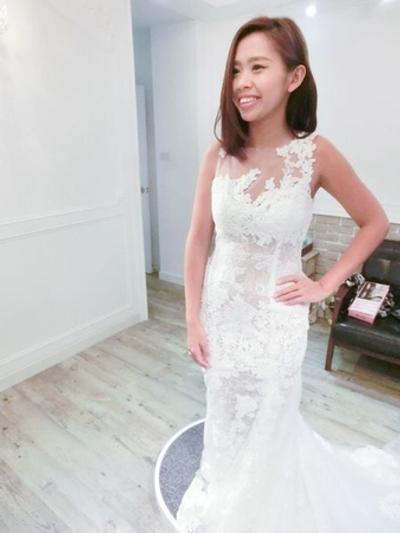 台北-Ariesy愛瑞思手工婚紗-外拍禮服試穿篇
