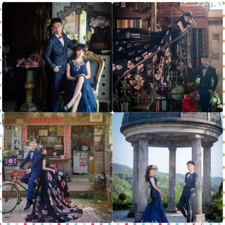 比堤婚紗 推薦新人:Mr. Lo&Mrs. Weng 深色晚禮服